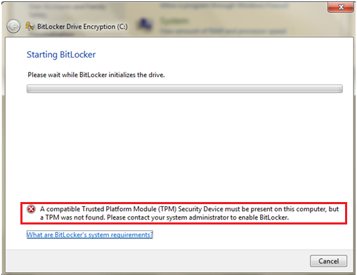 TPM (Trusted Platform Module) for BitLocker