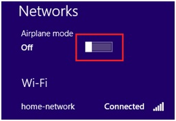 Windows 8 airplane mode