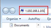 access shared files folder in Win7