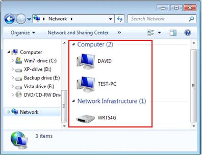 access shared files or printer