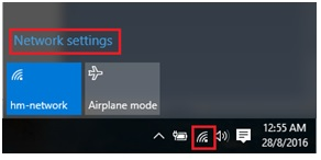 access Windows 10 network settings