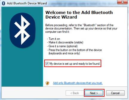 add bluetooth device wizard