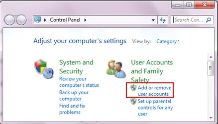 how to put password on user windows 7