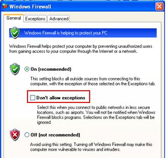 Allow Firewall Exception