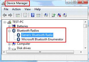 bluetooth driver in device manager