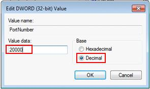 change remote desktop port TCP 3389
