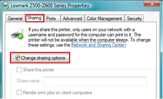 how to change printer from home to network