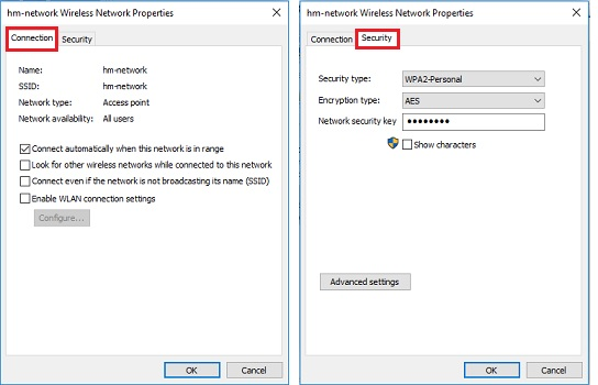 change wireless network settings in Windows 10
