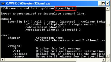 command prompt cmd.exe help in Microsoft Windows