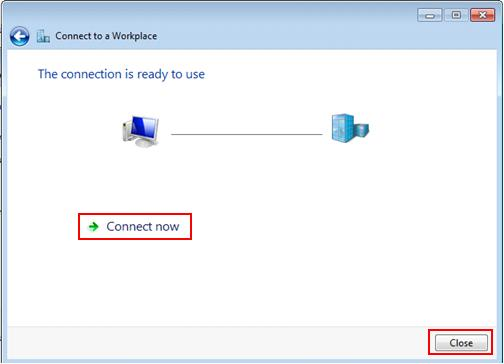 Windows 7 - connect PPTP VPN