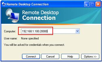 connect to remote desktop customized port