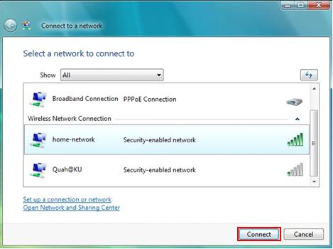 Connect to Wireless Network