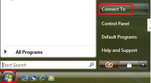 Vista Connect to