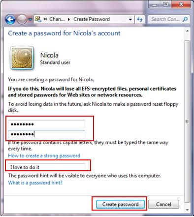 create complex and strong password