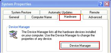 Device Manager in Microsoft Windows (Windows XP, Vista, 7, etc)