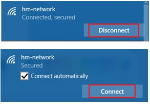 disconnect and reconnect wifi network