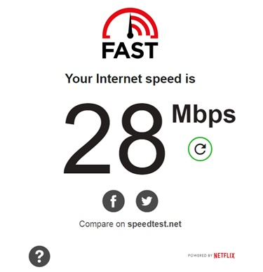 FAST Internet Speed Test