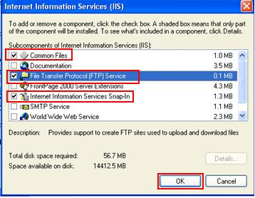 Enabling Free FTP Server in Windows XP Professional