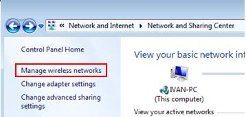 WLAN AutoConfig is started - can manage wireless network in Windows 7