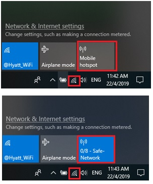 Windows 10 mobile hotspot