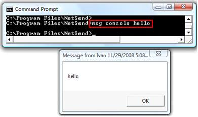 net send command in Vista - msg