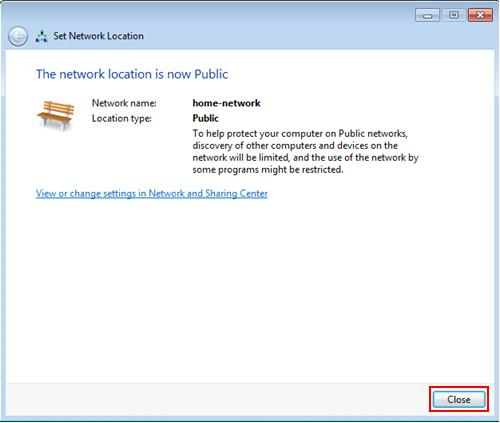 Windows 7 - new network location type