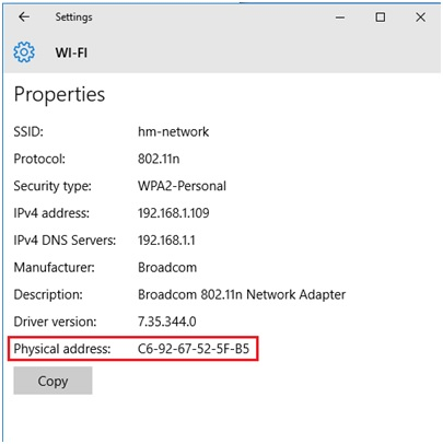 new wireless connection properties