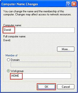 Set Computer Name and Workgroup