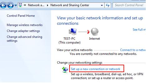 set up wireless connection in Windows 7