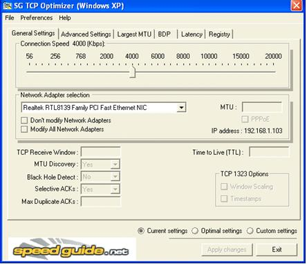 Use SG TCP Optimizer to Improve Internet Speed