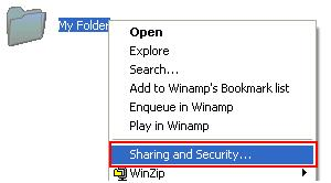 Share Folder in Windows XP
