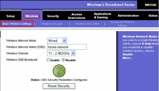 SSID Wireless Setting