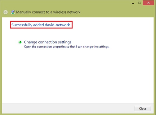 successfully added wifi network