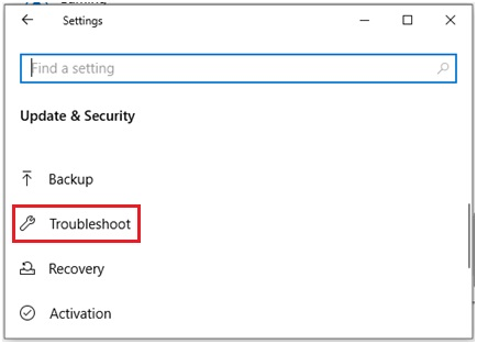 troubleshoot Windows 10 network settings