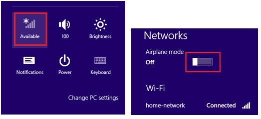turn on airplane mode to disconnect wireless connection