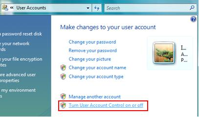 Turn User Account Control On or Off
