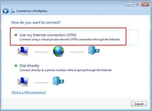 use VPN connection in Windows 7