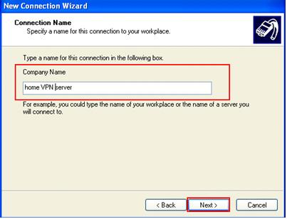 how to create vpn server name