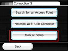 Wii Wireless Connection Manual Setup