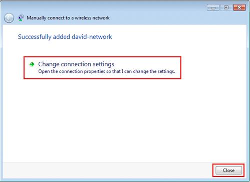 Windows 7 networking - change wireless connection settings
