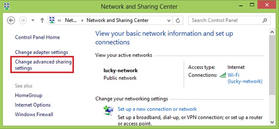 win8-change advanced sharing settings