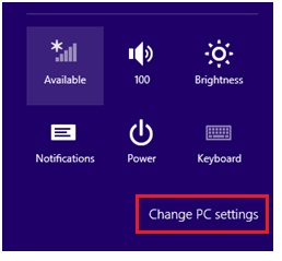 win8 change pc settings