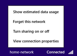 Win8 wireless network settings