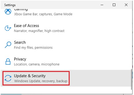 Windows 10 update security