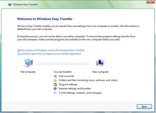 Windows Easy Transfer