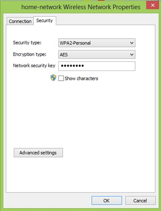 Win8 WiFi network settings