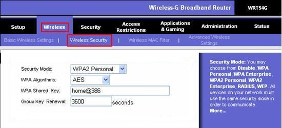 Wireless Router Authentication