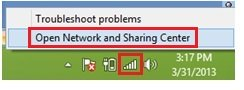 Windows 8 access network and sharing center