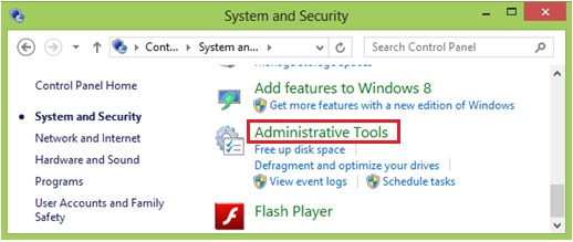administrative tools to check services