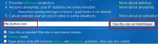 Anonymous Proxy Server or Free Web Proxy